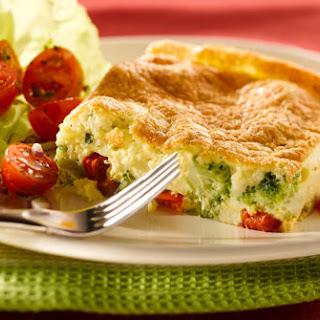 Ricotta and Broccoli Frittata Recipe, with Bacon