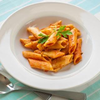 Saucy Garlic Parmesan Penne Casserole