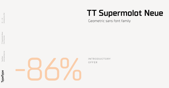 Download TT Supermolot Neue Font Family From TypeType