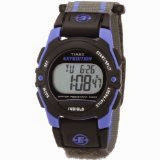 Timex Unisex T49660 Expedition Classic Digital Chrono Alarm Timer BlueGray Fast Wrap Velcro Strap Watch