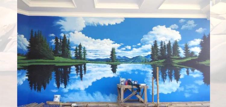 Kreasi Lukisan Mural Alam Di Dinding