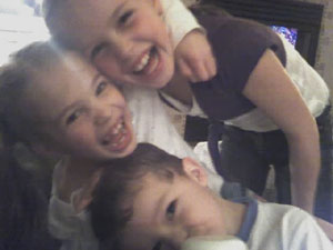 A photo all three kids. Photo taken on March 3, 2007.