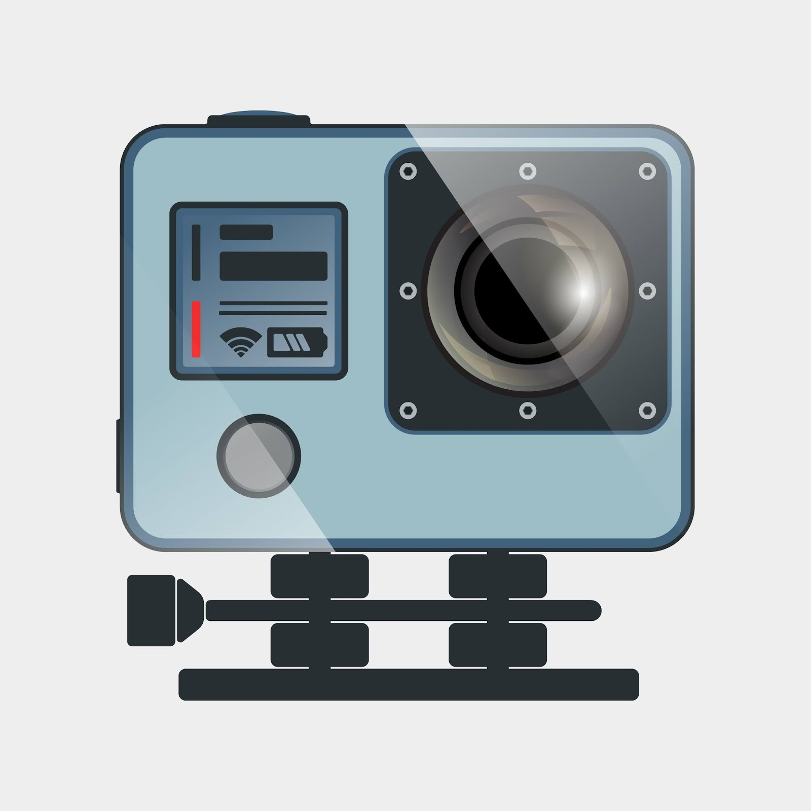 Action Camera Icon Free Download Vector CDR, AI, EPS and PNG Formats