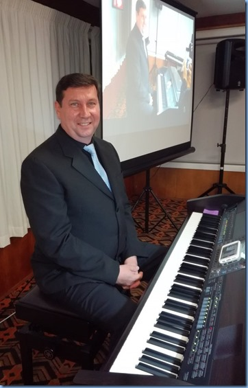 Our guest artist, Mark Shiloh, playing the Yamaha Clavinova CVP-509. Photo courtesy of Dennis Lyons.