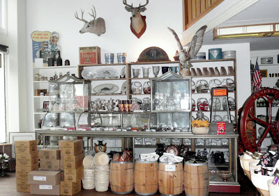 Merchandise inside the Mercantile Building