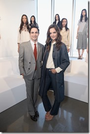 NEW YORK, NY - SEPTEMBER 14:  Designer Zac Posen and actress Katie Holmes attend the Brooks Brothers SS 2017 Presentation during New York Fashion Week with creative director Zac Posen at The Glasshouses on September 14, 2016 in New York City.  (Photo by Andrew Toth/Getty Images for Brooks Brothers)