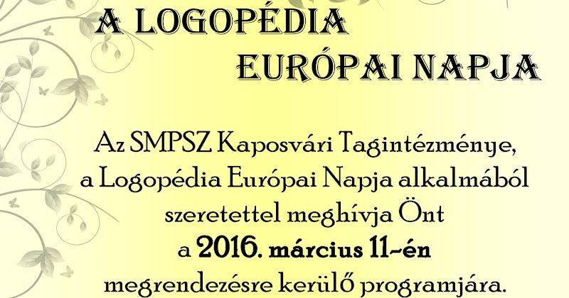 Logopédia Európai Napja Kaposvár 2016