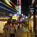 hongdae nightlife in Seoul, Seoul Special City, South Korea