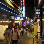 hongdae nightlife in Seoul, Seoul Special City, South Korea
