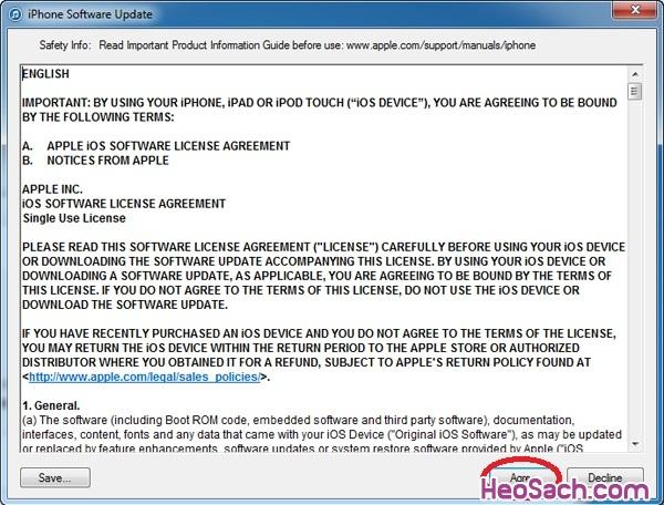 Hình 6 - Hướng dẫn khôi phục, Restore iPhone và iPhone 6 Plus