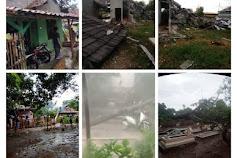 """Berikut Kondisi Terkini Rumah """"Rusak"""" Gegara Angin Ribut di Lemahabang"""