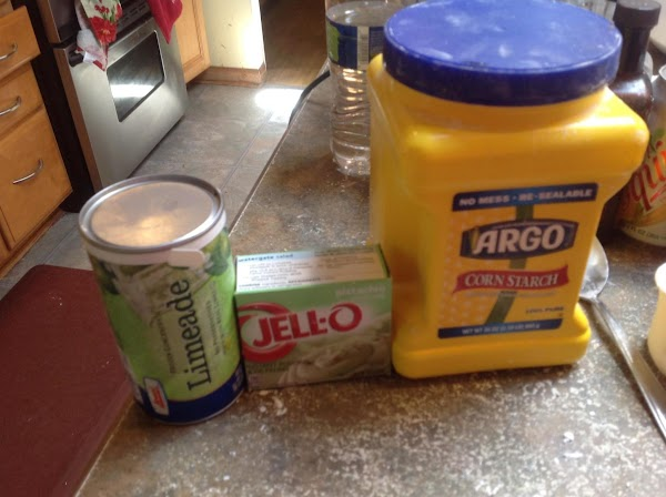 Blend sugar with lime Jello & set aside till needed. These are some of...