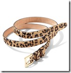 Pure Collection Leopard Print Belt