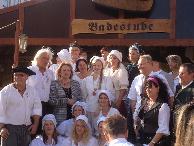 Hoher Besuch in der Baderstube Bundes Justiz Ministerin Sabine Leutheusser-Schnarrenberger.
