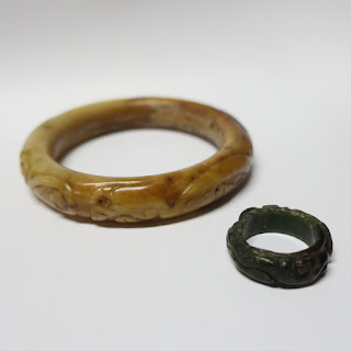 Jade Ring and Bangle Pair