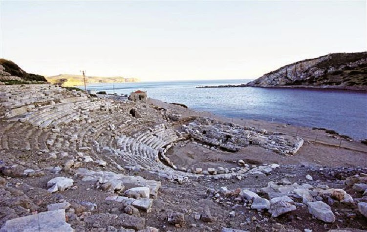 Near East: Knidos church and theatre under restoration
