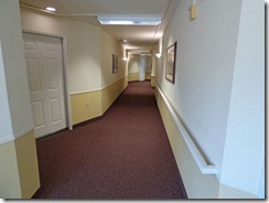 Mom and Dad's hallway leading to commons area,  Brookdale Orangevale Assisted Living community