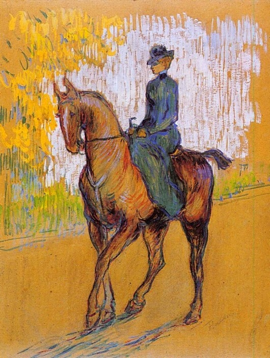Henri de Toulouse-Lautrec - Side-Saddle