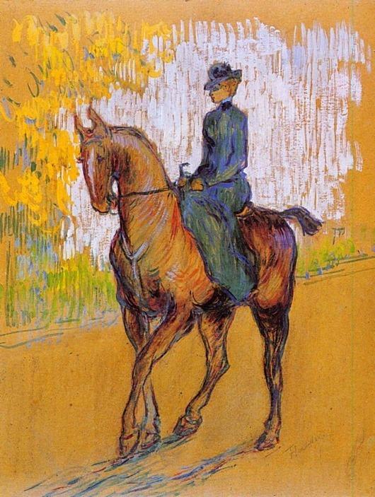 Henri de Toulouse-Lautrec - Side-Saddle