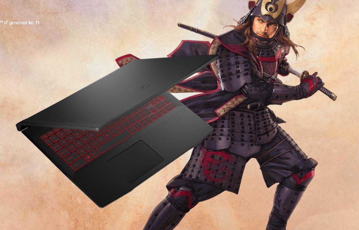 MSI Katana GF66 11UC 446ID, Laptop Gaming 16 Jutaan Terbaru Bertenaga Intel Tiger Lake H45