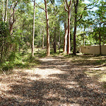 Trail with house visible in Blackbutt Reserve (401002)