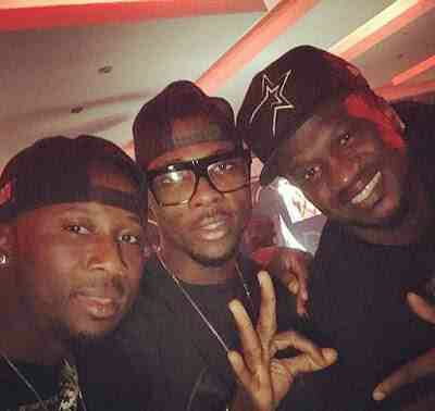 Kelechi Iheanacho Chills With Igbo musicians; Peter and Paul Okoye And Flavour