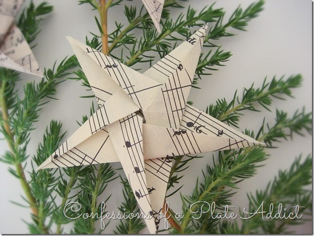 CONFESSIONS OF A PLATE ADDICT Sheet Music Origami Stars