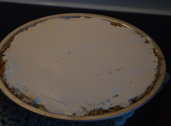 Pour into cool graham cracker crust and chill till firm, (at least one hour)...