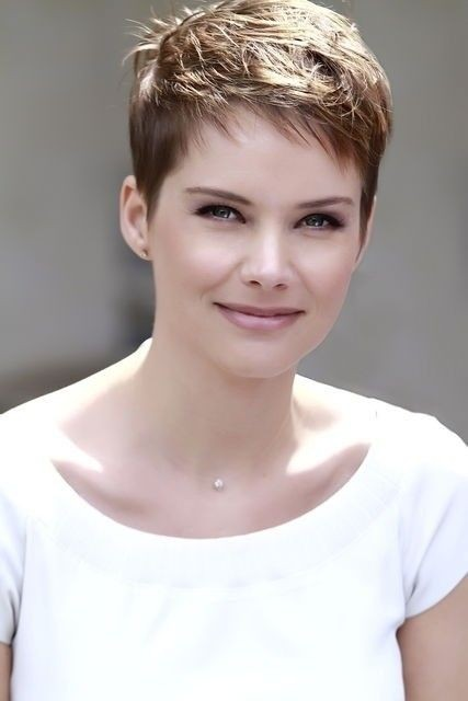 Very Short Fine Pixie Haircut for Girls