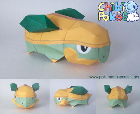 Chibi Grotle Papercraft