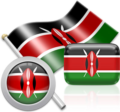 Kenyan flag icons pictures collection