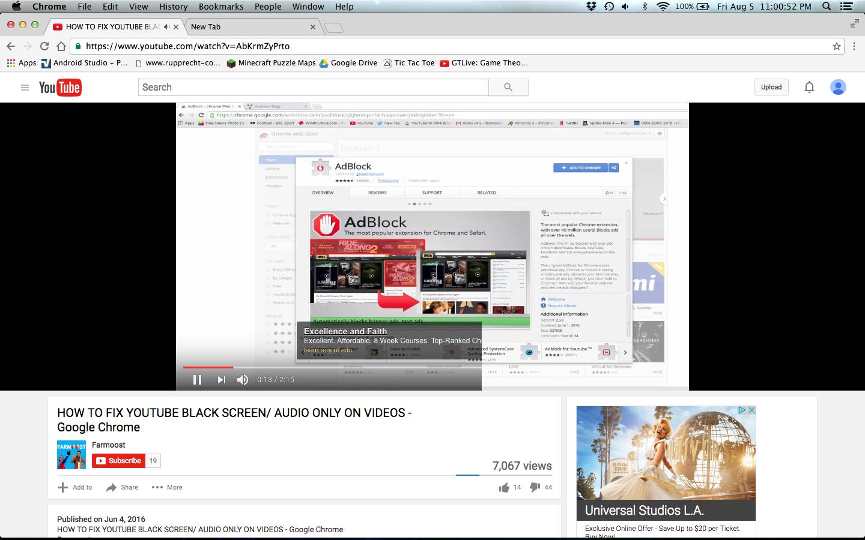 Google Chrome YouTube glitch - Google Chrome Help
