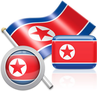 North Korean flag icons pictures collection