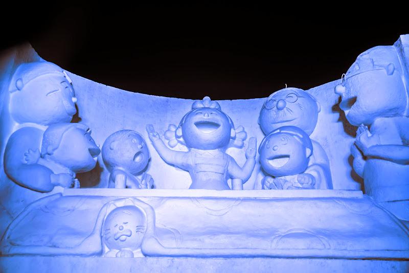 さっぽろ雪まつり サザエさんライトアップ 写真