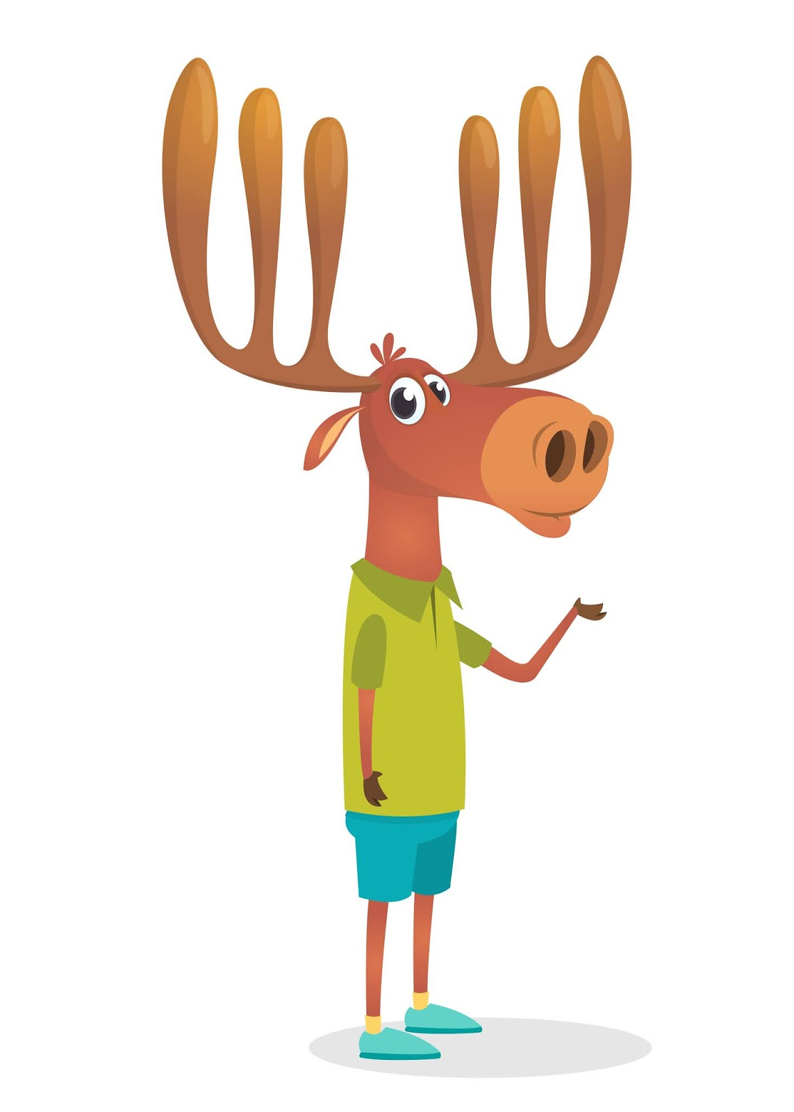 Cartoon Funny Moose Illustration Free Download Vector CDR, AI, EPS and PNG Formats