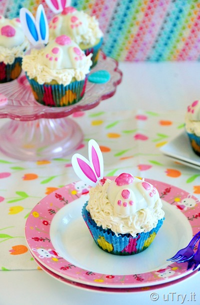 Easter Bunny Vanilla Bean Cupcakes  http://uTry.it