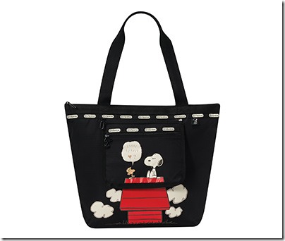 Peanuts X LeSportsac 8246 Deluxe Hailey Tote