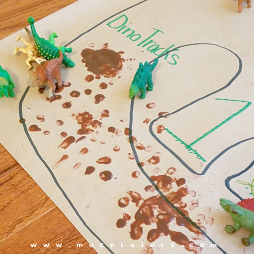 D is for Dinosaur Activity Mat for Kids
