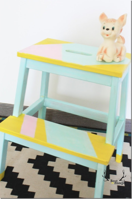 DIY-ikea-bekvam-scaletta-sgabello-dipingere-modifica-5