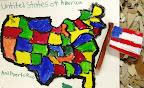 Map of America by Julia N