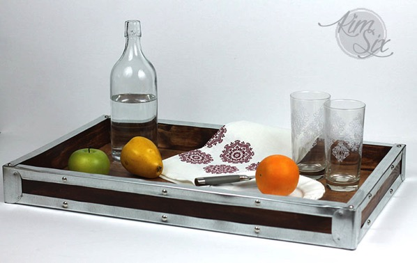 Vintage Inspired DIY wooden tray