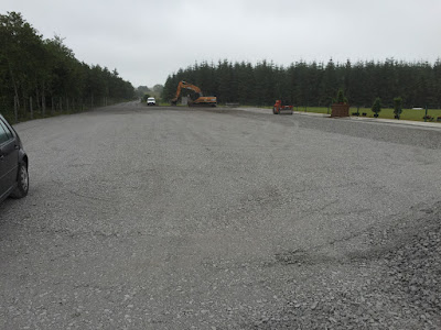 Hard driveway in progress