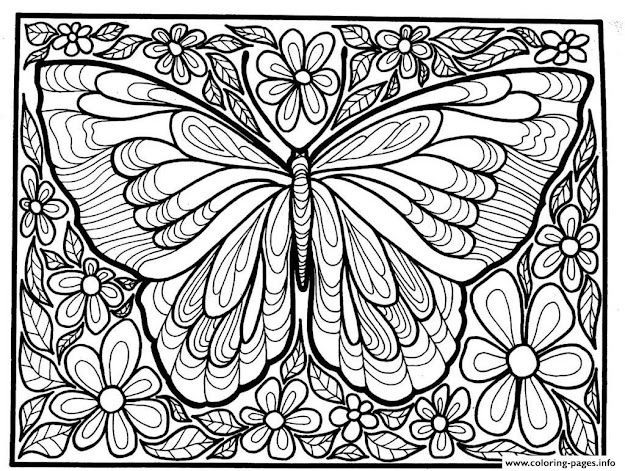 Amazing Good Adult Difficult Big Butterfly By Butterfly Coloring Pages In  Butterfly Coloring Page