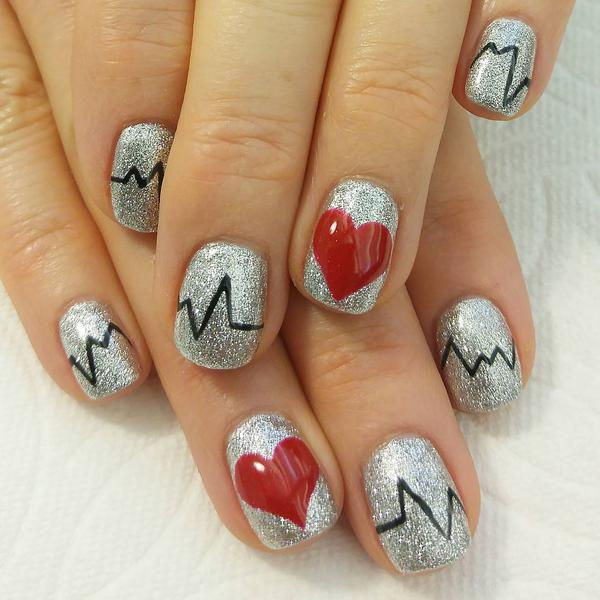 26 Red And Silver Glitter Nail Art Designs Ideas: Red And Silver Glitter Nail Art Designs For Summer 2017