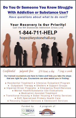 NH Statewide Addiction Crisis Line Flyer