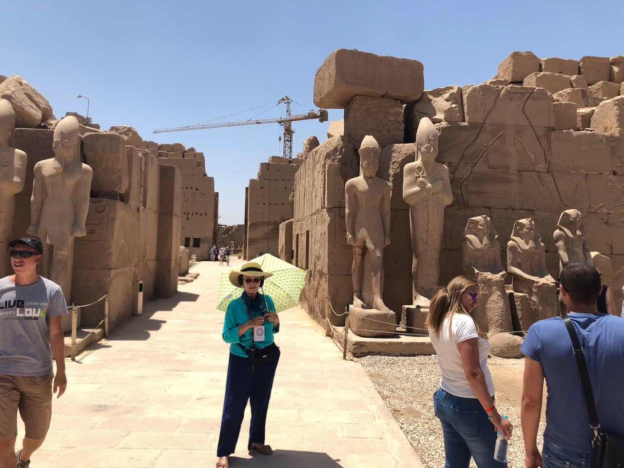 Resident Astronomer Peggy at Karnak (Source: Palmia Observaory)
