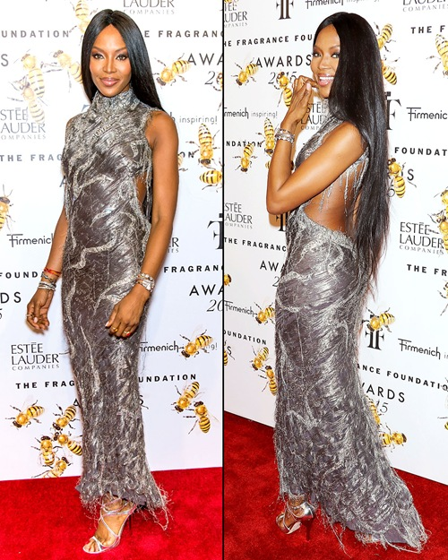 Naomi Campbell attend the 2015 Fragrance Foundation Awards