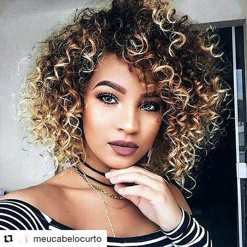 PLEASANT CURLY HAIR WITH BANGS FOR WOMEN IN 2019 5
