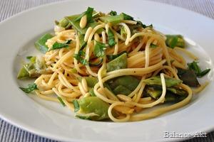 Pasta mit grünen Bohnen und erfrischender Zitronensoße