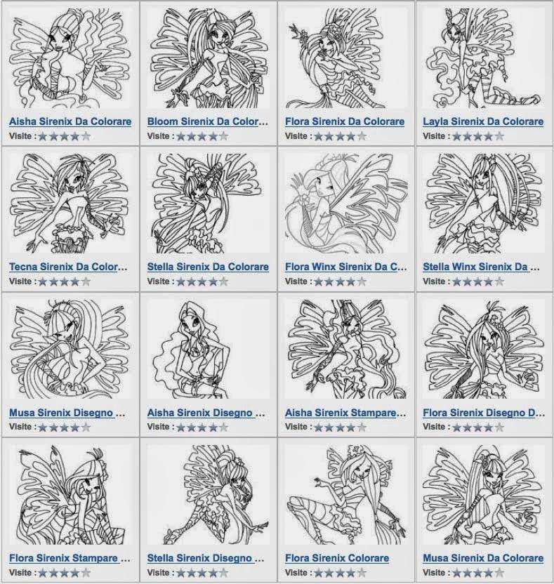 I Disegni Delle Wix Sirenix Da Colorare Trovi Le Trasformazioni